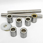 Barden 20 Linear Ball Bearing Shaft Rod Bushings (6) w/ Linear Shafts (2)