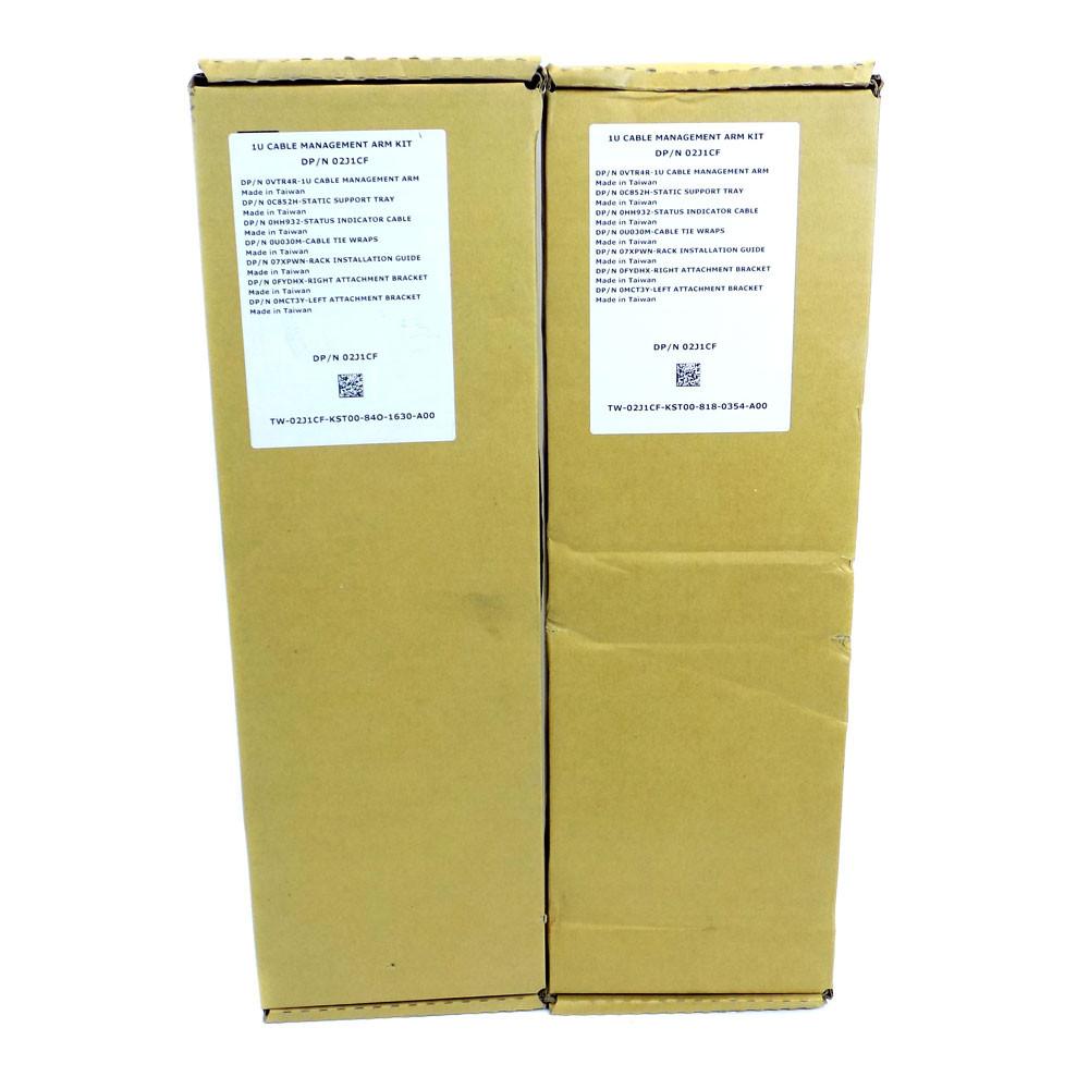 (Lot of 2) NEW Dell 02J1CF 1U Cable Management Arm Kits DP/N 02J1CF