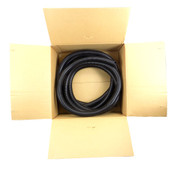 """Superflex 125-1000-25 Black 1"""" Polyethylene Flexible Split Tubing 25'"""