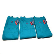 "(3) NEW Cherokee Workwear 4100 TLBW Teal Unisex Fit Scrub Pants Medium ""M"""
