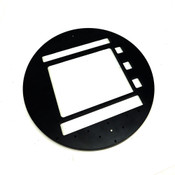 "RA41273-01-BA REV A Black Brushed Aluminum Probe-PCB Stiffener 12"" D .5"" H"