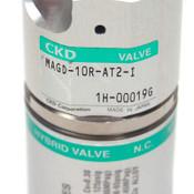 "CKD Corp. MAGD-10R-AT2-I Pneumatic 3-Port Diaphragm Hybrid Valve NC Air 1/8"""