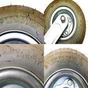 "(Lot Of 4) Kenda 2.80/2.50-4 8.5"" Nylon Caster Wheels w/ Base 50 PSI Max"