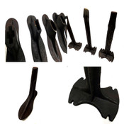 "(Mixed Lot of 15) Vintage Iron Cobbler Tools (4) Anvils & (11) Shoe Forms 7""-10"""