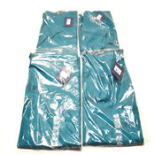"(4) NEW Cherokee Workwear 4100T ""Tall"" Teal Unisex Drawstring Scrub Pants XL"
