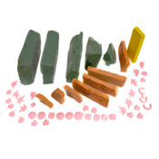 Lost Wax in Green/Orange/Yellow/Pink Colors Used Mold Casting Wax (30lbs.)