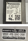 Panasonic Matsushita MSMD022P2SAC Servo Motor Reducer VRSF-PB-S9C-200 1:9 3-Ph