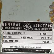 GE Flex-A-Power DH2BBS41 100A 600V 3PH 4W Plug-In Busway