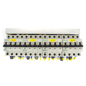 (Lot of 4) Moeller FAZ-C13/4 Xpole 480Y/277VAC 10kA 4P 13A Circuit Breaker