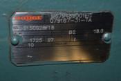 "Dodge 215CG28F18 B2 18:1 Gearbox Speed Reducer Out-RPM:97 M679489001EG Shaft:2"""