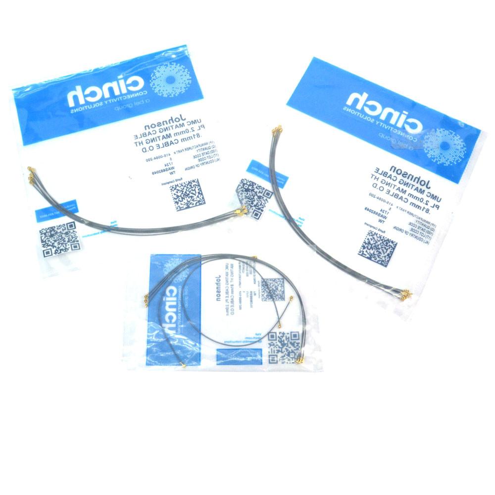 Pack of 20 415-0084-200 RF Cable Assemblies UMC PLUG//UMC PLUG LOW PROFILE 200MM