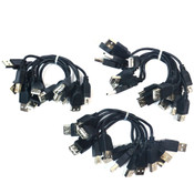 (Lot of 23) NEW StartTech USBEXTAA6IN 6in USB 2.0 Extension Adapter Cable M/F