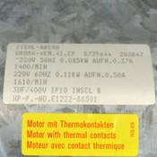 """Ziehl-Abegg QRD8A-4EM.41.CF 16"""" 220V 50/60Hz 1610RPM Oven Ventilation Blower"""
