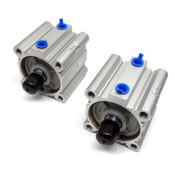 (Lot of 2) SMC NCDQ2A80-40DMZ 25mm Bore 60mm Stroke Pneumatic Cylinder