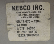 "Kebco Combistop 05.17.670-120U Spring Set Brake Electric Clutch 7/8"" 145TC"