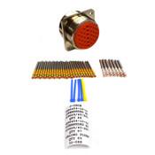 New J-Tech MS3400L32-8S Wall Mount Aluminum Nickel 32-Pin Circular Connector