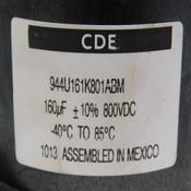 Cornell Dubilier CDE 944U161K801ABM 160uF 800VDC Polypropylene Film Capacitor