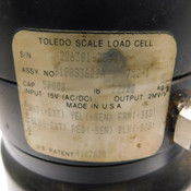 Mettler Toledo B10883600A Scale Load Cell 50,000lb/22,700kg Capacity 15V AC/DC