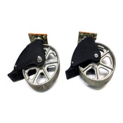 """Albion 16CA08201ST 8"""" x 2"""" Total Lock Industrial Caster Wheels (2)"""
