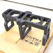 "35"" x 14"" x 17"" Anodized Black Aluminum Industrial Double Gantry Assembly"