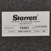 "Starrett Laboratory Grade AA Black 27-1/2""x19-5/8""x9-7/8"" Granite Surface Plate"