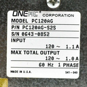 Oneac PC120AG-S2S ConditionOne 120VAC 1A 60Hz 1 Phase Power Conditioner 2-Outlet