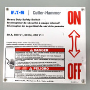 Eaton Cutler-Hammer DH361FGK Fused 30A Type 1 Heavy-Duty 600V Safety Switch