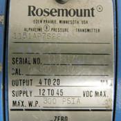 Rosemount 1151AP7S22 Pressure Transmitter 300PSI Working Pressure 12-45VDC