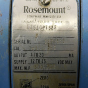 Rosemount 1151GP7S22 12 To 45 VDC Pressure Transmitter 300PSI Working Pressure