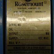 Rosemount Alphaline 1151GP9E22 B1 D1 Gage Pressure Transmitter 0-3000PSI 45VDC
