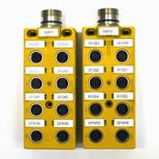 (Lot of 2) Turck VB 80-CS12/S859 8-Port Euro-Fast 5-Pin Junction Box Hubs