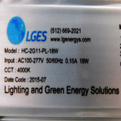 """LGES HC-2G11-PL-18W 96 LED 21"""" Replacement Lamp 4-Pin 100-277VAC 0.15A"""