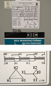 Rex DR40H1P1/K4 40-kVA 3-Phase Isolation Transformer Pri:460-Delta Sec:460Y/266