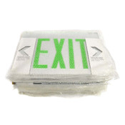 (Lot of 11) Sure-Lite EUS70G Edge-Lit LED Green Exit Sign Replacement Lenses