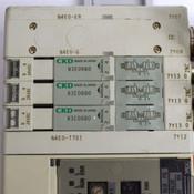 CKD Pneumatic Din Mount Block (1) N4E0-T7G1 CC-Link +(3) N3E0660 Solenoid Valves