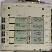 CKD Pneumatic Block (1) N4E0-T7G1 CC-Link + (2) N3E0660 + (2) N4E010 Valves