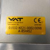 """VAT 01032-KE21-0002/0098 A-854452 Servo Motor & 1.5"""" I.D. Gate Valve Assembly"""