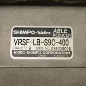 Yaskawa SGMAS-04ACA21 400W Servo w/Shimpo-Nidec VRSF-LB-S9C-400 Able Reducer