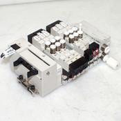 Lot: 6 CKD N4GA Solenoid Air Valves w/ 4GA139, 4GA129, 4GA119 24VDC 4mm, 6mm