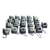 (Mixed Lot of 21) Cisco IP Business Phones (12)7941, (4)7945, (3)7940, (2)7942