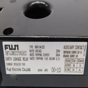 (Lot of 3) Fuji Electric BRR11N-02S Earth Leakage Relay 30mA Tripping Current