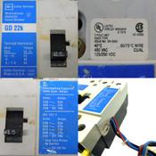 (Lot of 2)Cutler-Hammer GD 22k 15A Industrial Circuit Breakers 480VAC 125/250VDC
