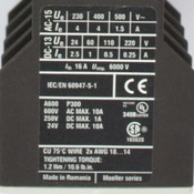 Eaton DIL M25-10 XTCE025C10 Mag. Contactor w/ DIL M32-XH11 Aux. Contact Block
