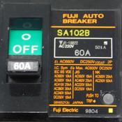 (Lot of 2) Fuji SA102B 60 Amp 2-Pole Auto Breaker Series Circuit Breakers 660VAC