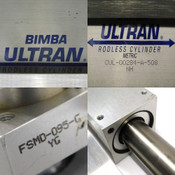 Bimba Ultran CUL-00284-A-508 Rodless Cylinder w/(2) Double Acting Cylinders