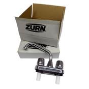 "(Lot of 2) NEW Zurn JP2620-DF1 Rigid Utility Chrome Deck Faucet 4"" Hole Width"