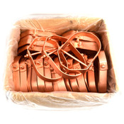 """(Lot of 25) W430340 Copper Electro-Plated Carbon Steel 4"""" CT Clevis Hanger"""