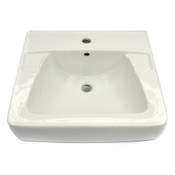 "Zurn Z5311-BA-A 20"" x 18"" Single Center White Vitreous China Wall Hung Lavatory"