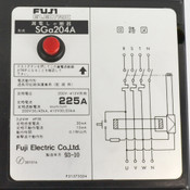 Fuji Electric SGa204A 225A 3P4W 200V 50/42kA 415V 30/225kA Circuit Breaker