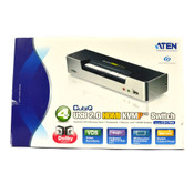 ATEN CS1794 CubiQ 4-Port HD Digital HDMI USB KVMP KVM Switch (Black/Silver)